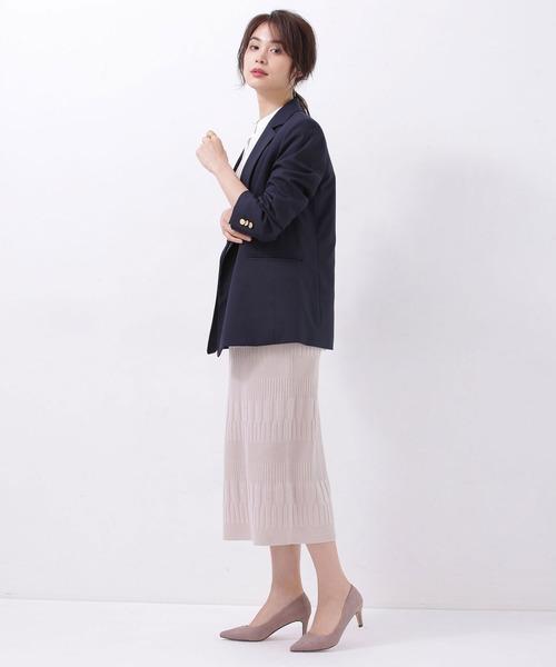 [nano・universe] 思いきり洗えるニット タイトスカート