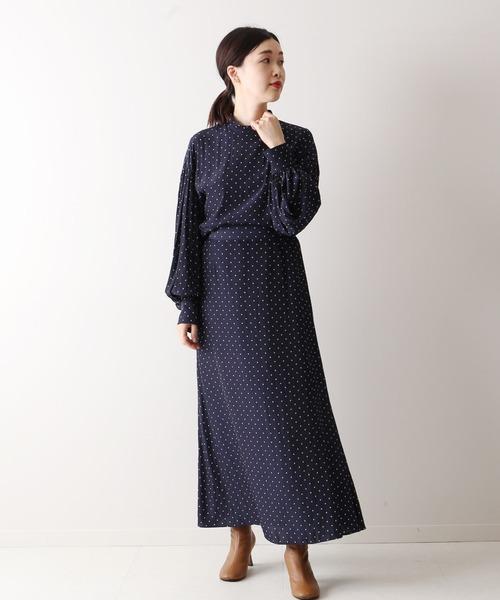 [JOURNAL STANDARD] ドットプリントフレアスカート◆
