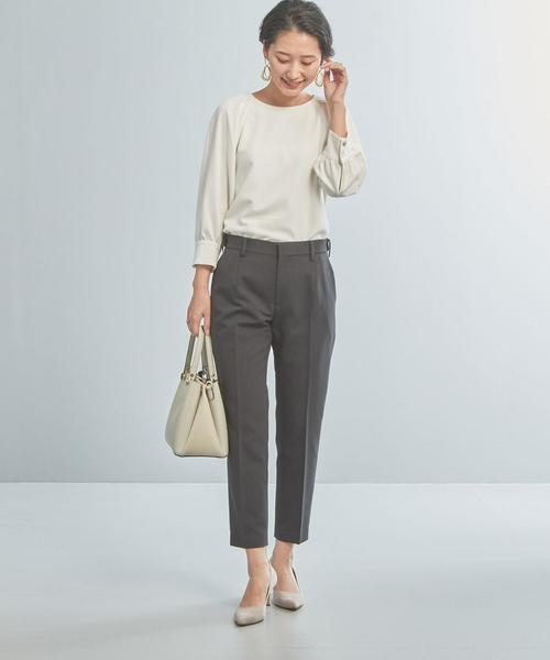 [green label relaxing] 【WORK TRIP OUTFITS】★WTO CS 袖タック ブラウス