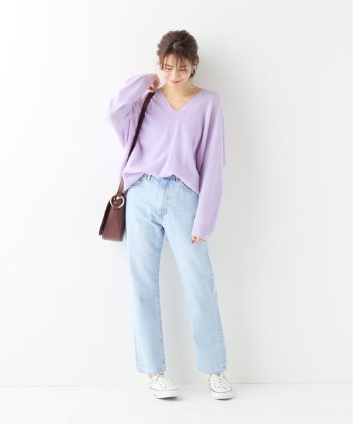 6月の軽井沢:ハイライズデニムの服装