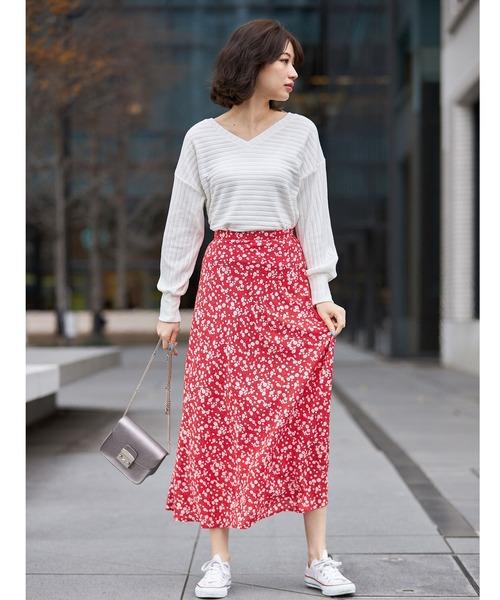 [tocco closet] 小花柄ナロースカート