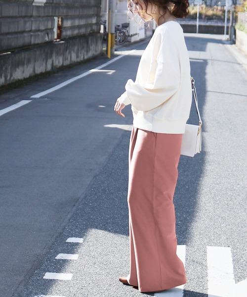 [reca] タックワイドパンツ