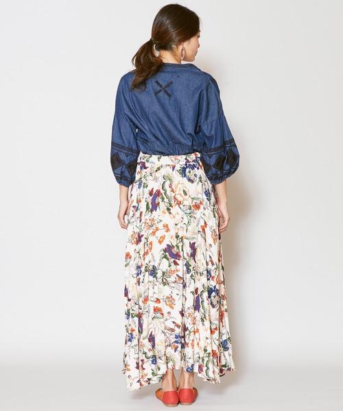 [チャイハネ] 【チャイハネ】ボタニカルフラワーロングスカート
