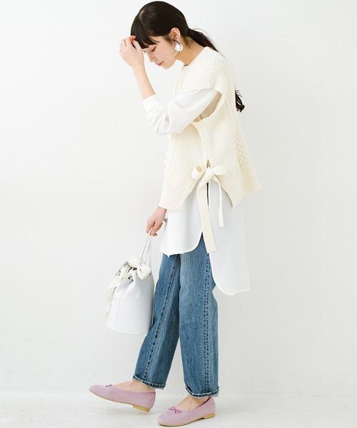 [haco!] ワンピースやシャツに重ねるだけであっという間に今っぽくなれるケーブル編みニットベスト