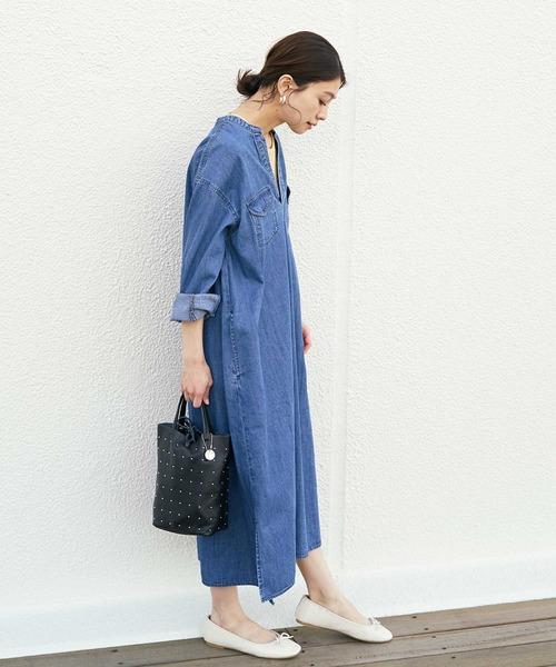 6月の軽井沢:デニムワンピの服装