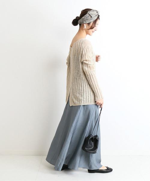 [IENA] ワッシャーサテンスカート◆