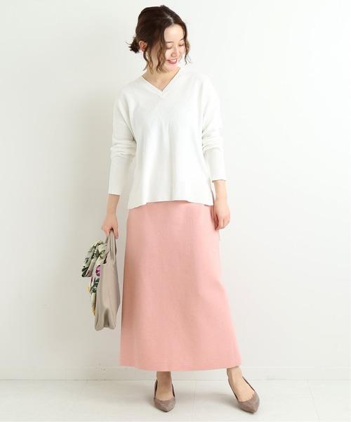 [IENA] ライトツイードスカート◆