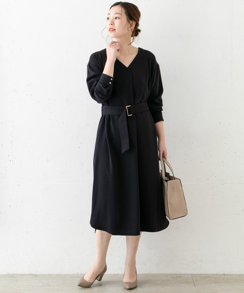[URBAN RESEARCH ROSSO WOMEN] Vネックワンピース
