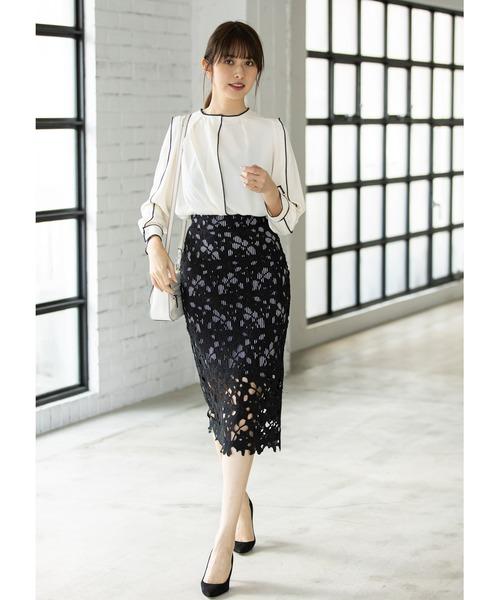 [tocco closet] ストライプレーススカート