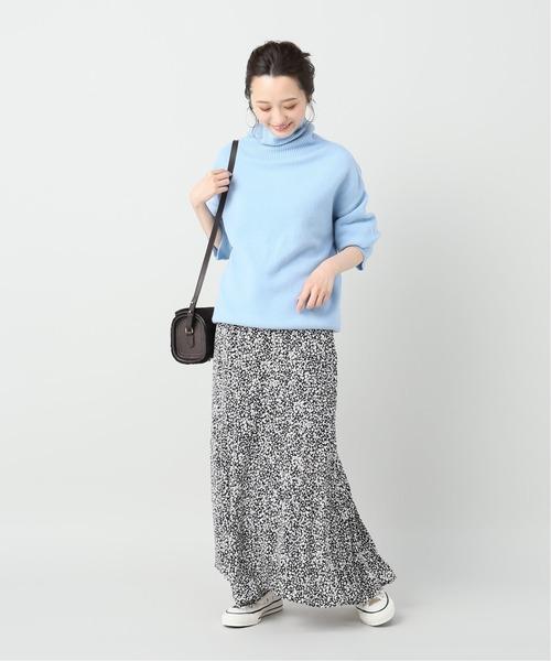 [La TOTALITE] プチフラワーティアードスカート【手洗い可能】