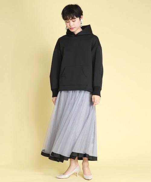 [TITE IN THE STORE] 【SUGAR ROSE /シュガーローズ】裾グログランチュール×ポンチリバーシブルスカート