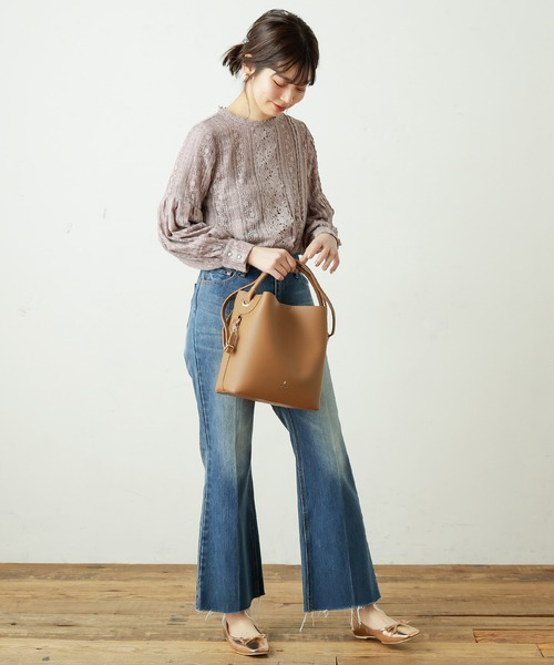 [natural couture] たっぷりレース使いお上品ブラウス