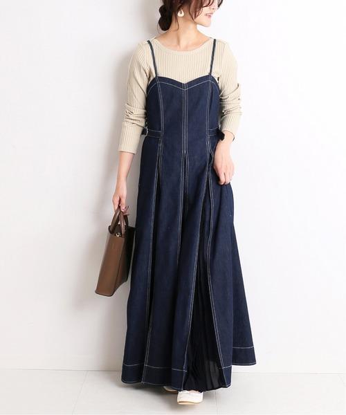 6月の北海道:デニムプリーツワンピの服装