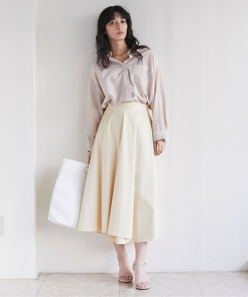 [GALLARDAGALANTE] コットンサテンスカート