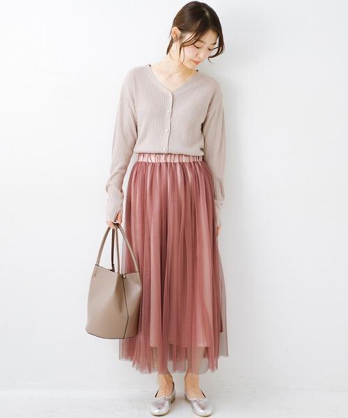 [haco!] 着るだけでルンとした気分になる! 長ーーい季節着られてずっと使えるオトナのためのチュールスカート