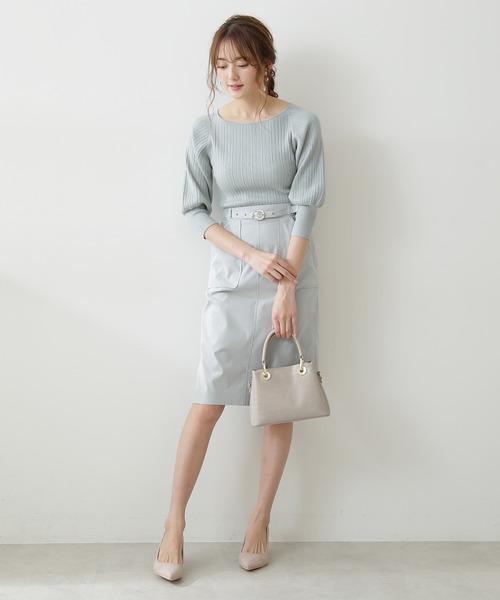 [PROPORTION BODY DRESSING] アウトポケットワークタイトスカート:ブラウンWEB限定カラー