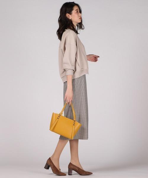 [VICKY] 【WEB別注】ベルト付きチェックタイトスカート