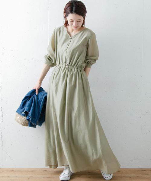 6月の軽井沢:2WAYワンピの服装