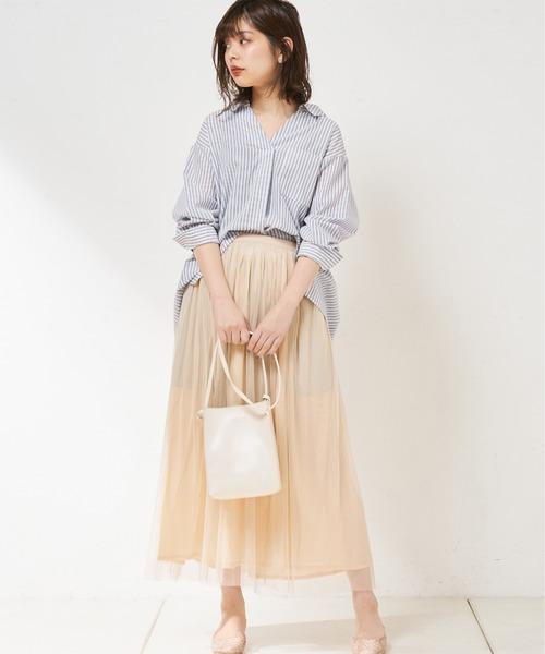 [natural couture] ラメチュールリバーシブルスカート
