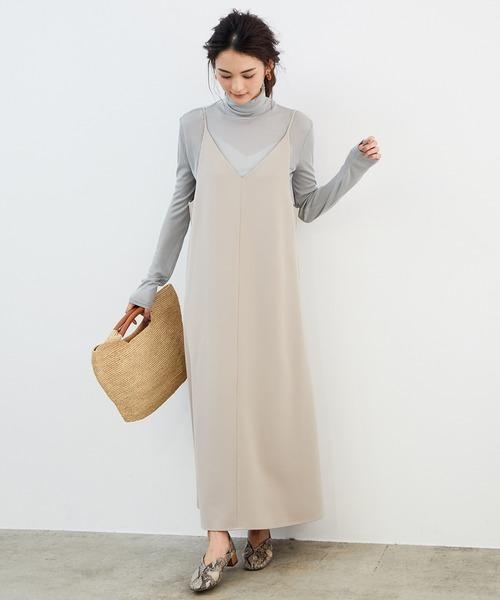 [ROPE' PICNIC] 【WEB限定】キャミソールジャンパースカート