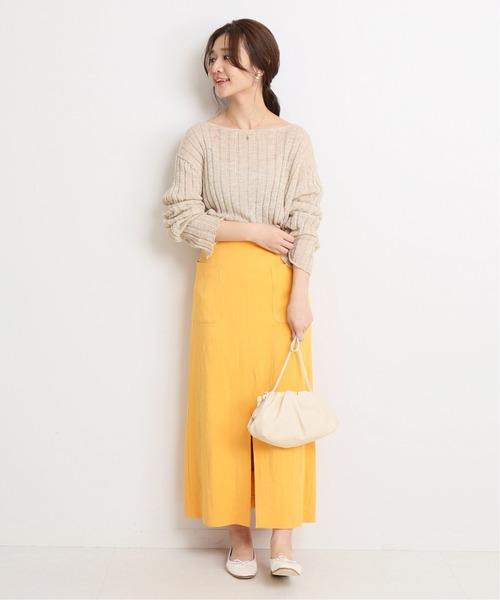 カラースカートの低身長さんコーデ
