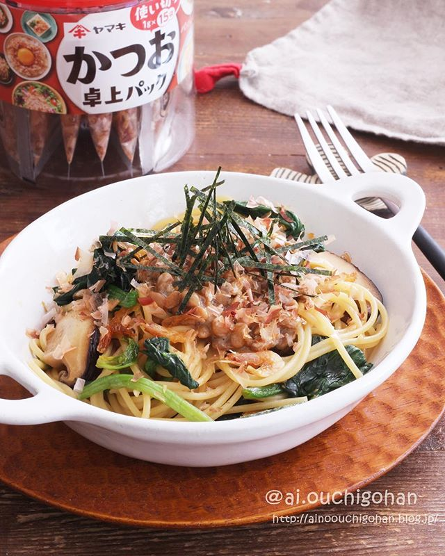 簡単なレシピに!手軽にできる納豆和風パスタ