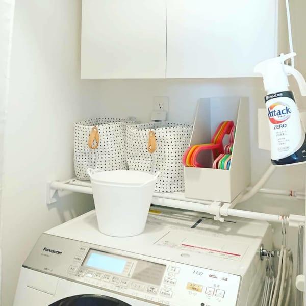 洗濯機上のスペース 収納5