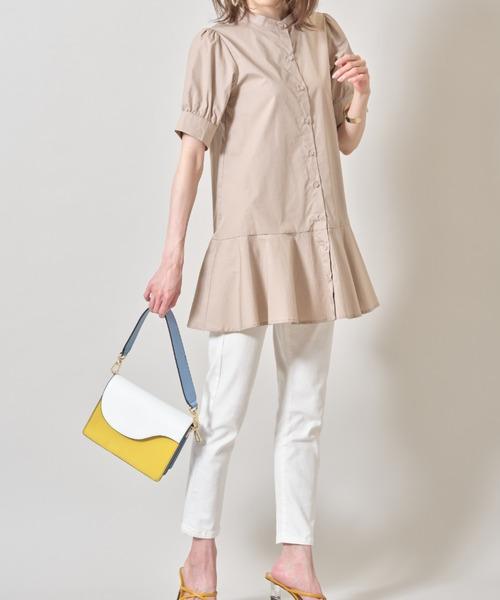 [tocco closet] パフスリーブペプラムシャツ