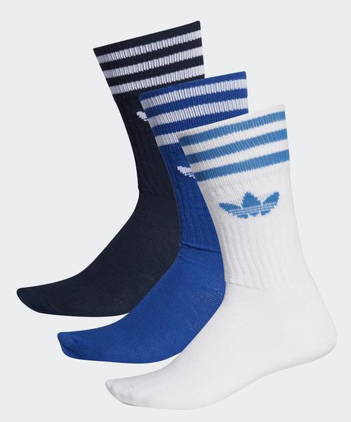 [adidas] 靴下3足セット [SOLID CREW SOCK] アディダスオリジナルス