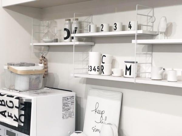 キッチンの見せる収納アイデア《食器》2