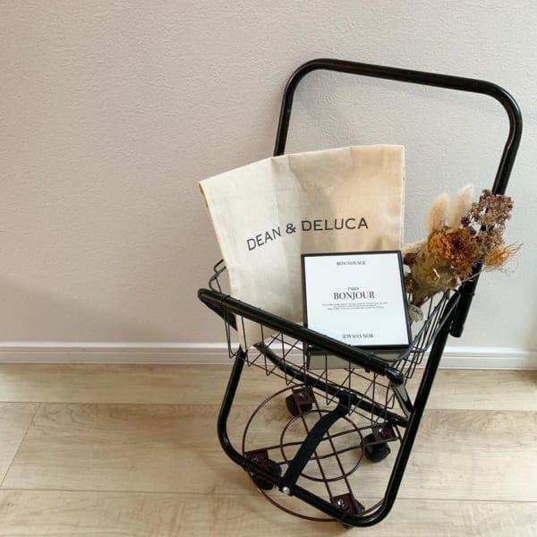 レジャー椅子などで作るショッピングカート