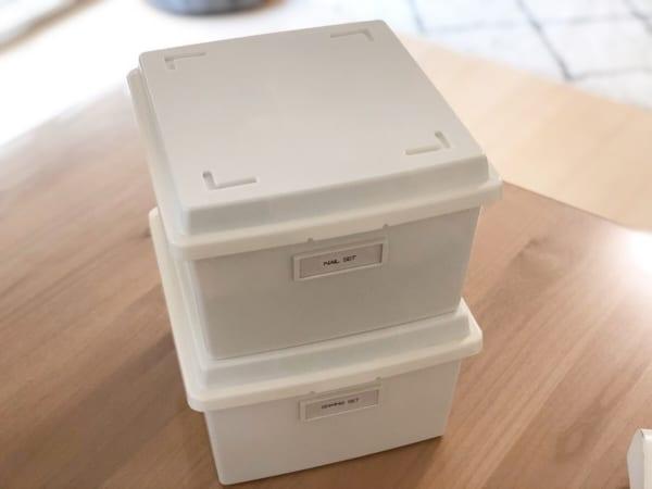 使い勝手抜群の蓋付きボックス