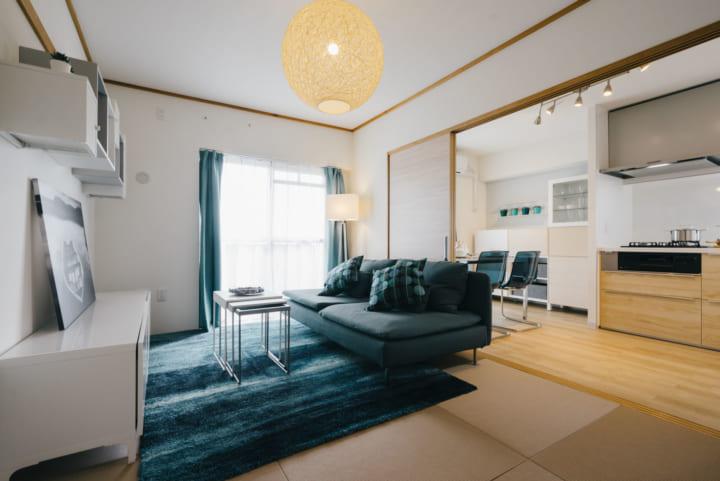 藍色系的室內裝潢