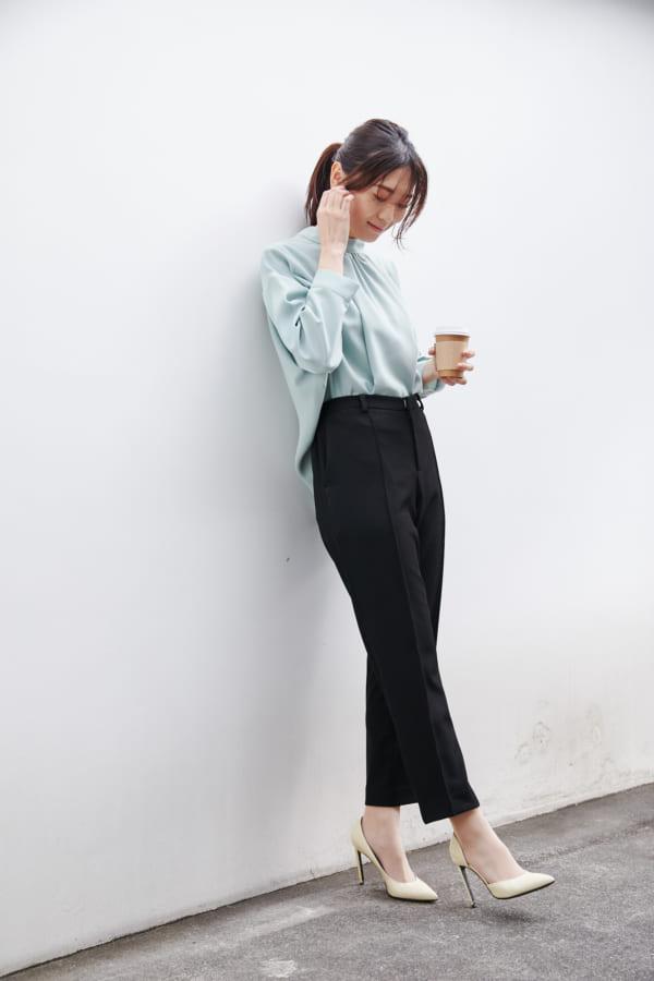 2wayボウタイシャツ×センターシームパンツ
