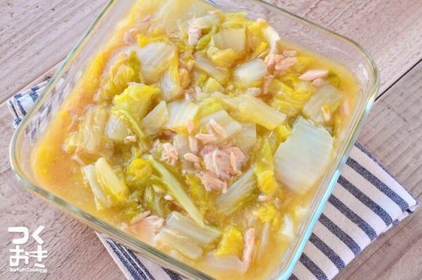 とんかつのサイドメニューに!白菜とツナの旨煮