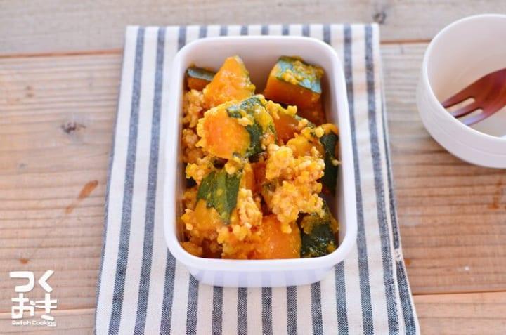野菜炒めの人気メニュー!かぼちゃのひき肉あん