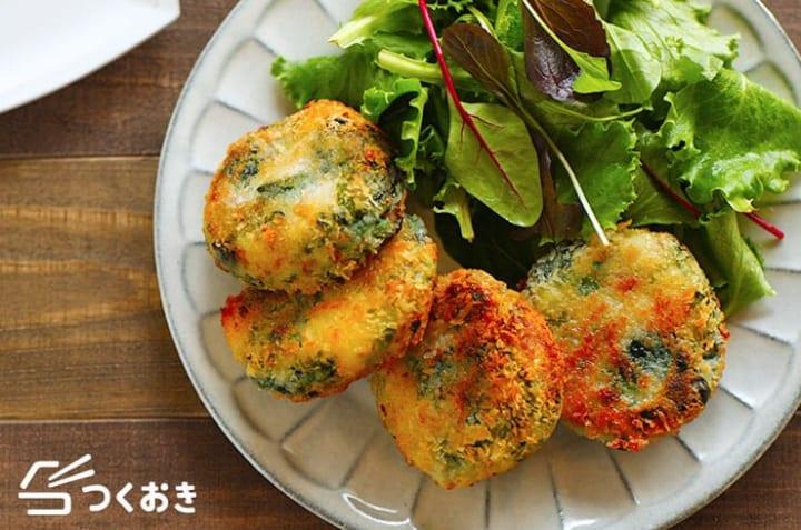 タコライスの副菜に!ほうれん草の焼きコロッケ