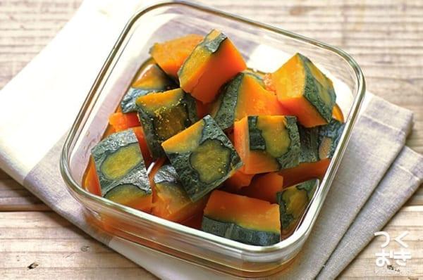 とんかつの献立に簡単な副菜!かぼちゃの煮物