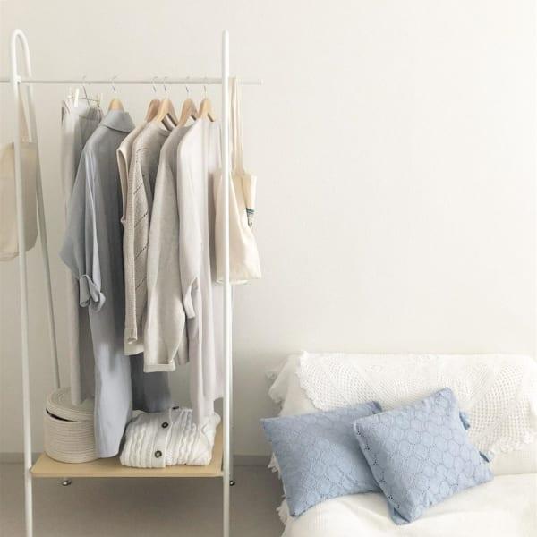 洋服の見せる収納アイデア《ラック》2