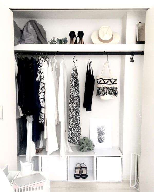 洋服の見せる収納アイデア《クローゼット》3