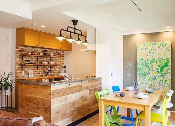 カフェ風キッチンインテリア≪背面収納≫2