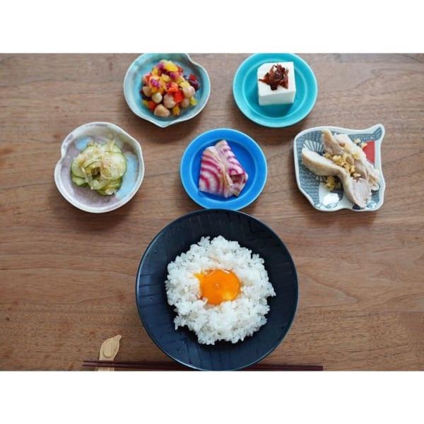 お気に入りの豆皿を使った朝食の盛り付け