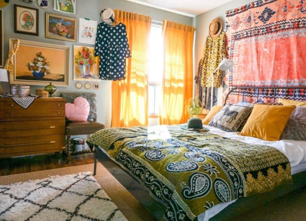 カラフルポップな寝室