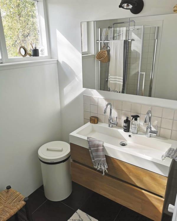 シンプル&清潔感溢れる洗面所