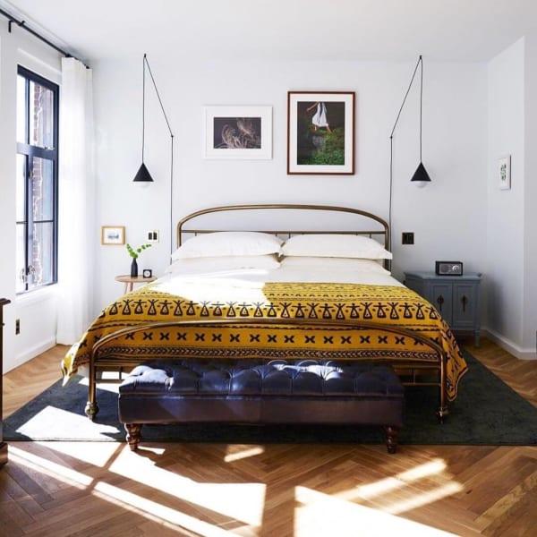 クラシカル&エスニックがおしゃれな寝室