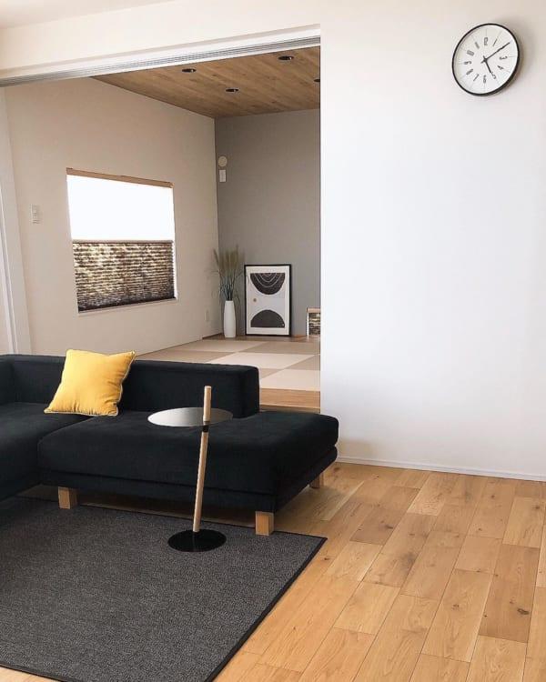 琉球畳の和室が洋風インテリアにマッチ