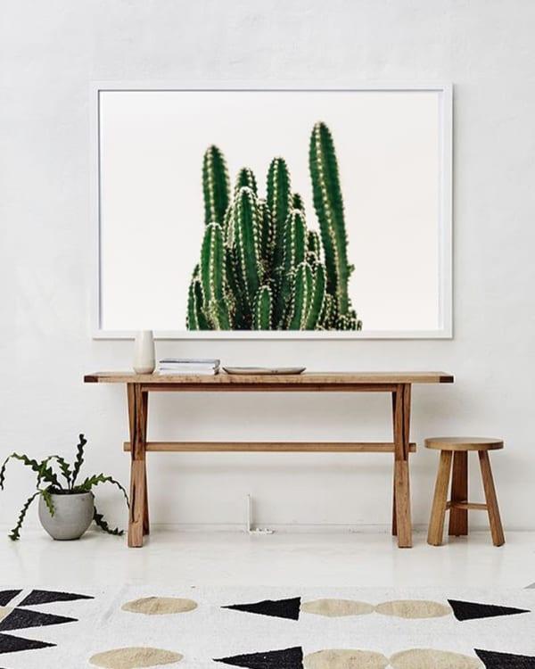⑪家具とアートの中心線を合わせる