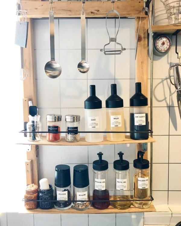 キッチンの見せる収納アイデア《調味料》5