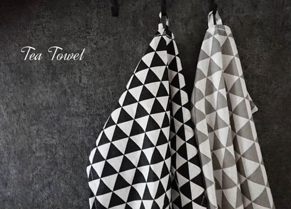 北欧風デザインのティータオル