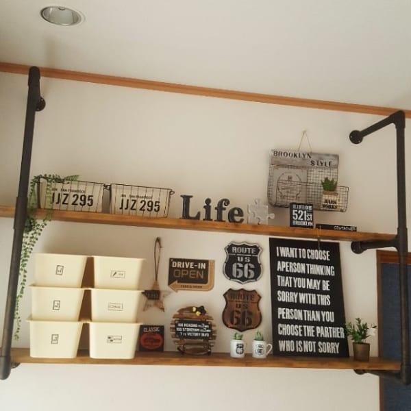 カフェ風一人暮らしインテリア《DIYアイデア》2